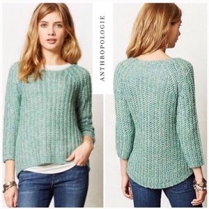 Anthropologie Knitted Knotted Sunstitch Pullover